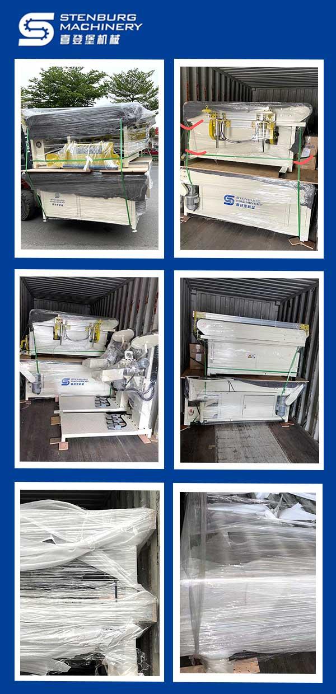 Máquina automática de bordes giratorios para colchones